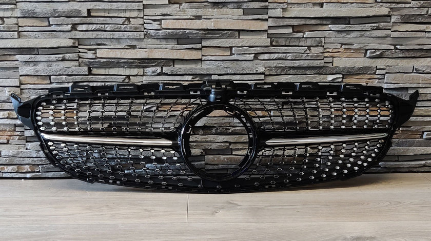 Grila Mercedes Benz C Class W205 Facelift (Dupa 2019) Diamond Black Design
