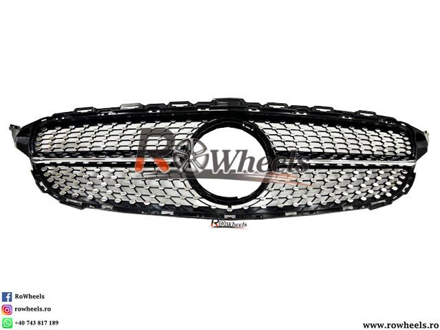 Grila Mercedes Benz C Class W205 Model Diamond  black
