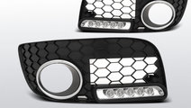 Grila proiector ceata cu LED-uri DRL VW GOLF 5 GTI...