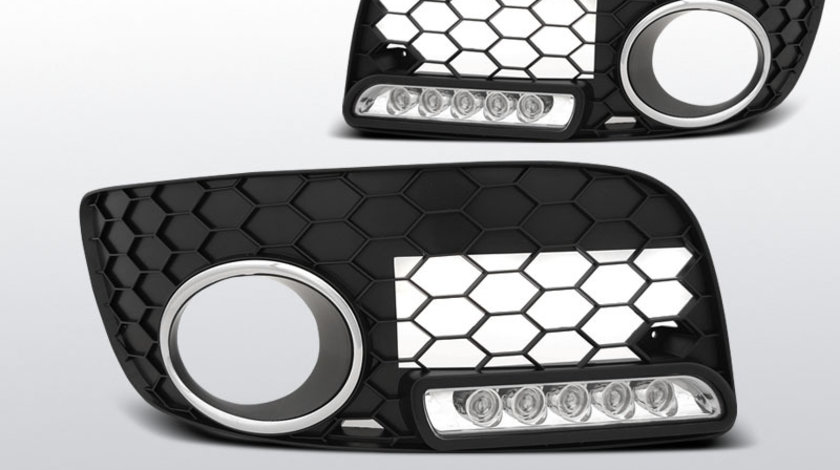 Grila proiector ceata cu LED-uri DRL VW GOLF 5 GTI-negru