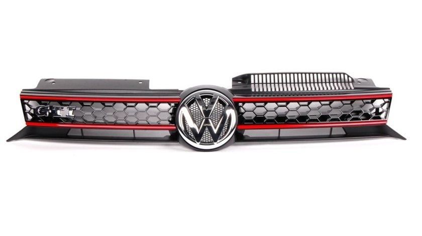 Grila Radiator Am Volkswagen Golf 6 2008-2013 GTI 5K0853651ASATK