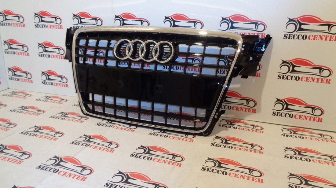 Grila radiator AUDI A4 B8 2007 2008 2009 2010 2011 2012 S-Line negru lucios