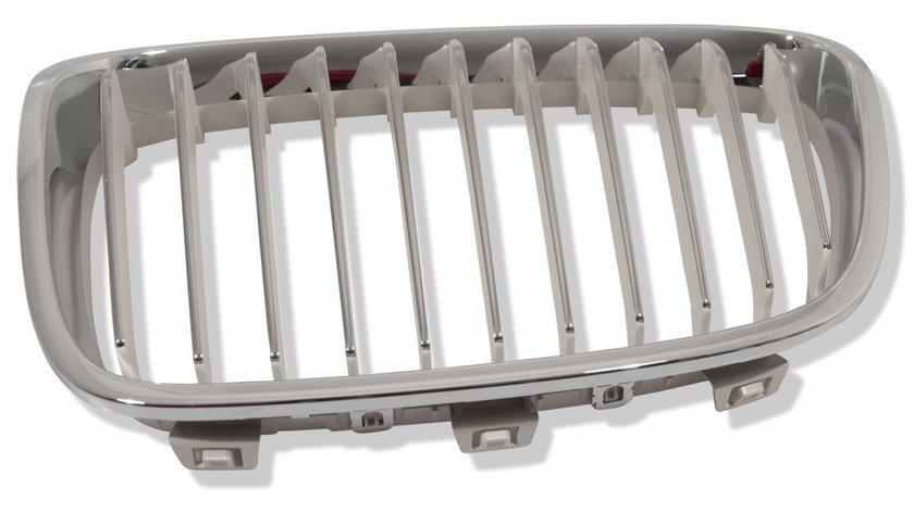 Grila radiator Bmw Seria 1 (F20), 08.2011-, stanga, crom/grunduit, 51137262119, 20C105-3 Model URBAN Kft Auto