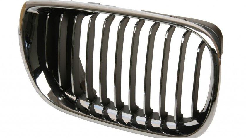 Grila radiator BMW Seria 3 E46 1998-2001 Partea Dreapta cu element cromat 51137042962