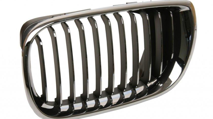 Grila radiator BMW Seria 3 E46 1998-2001 Partea stanga cu element cromat 51137042961