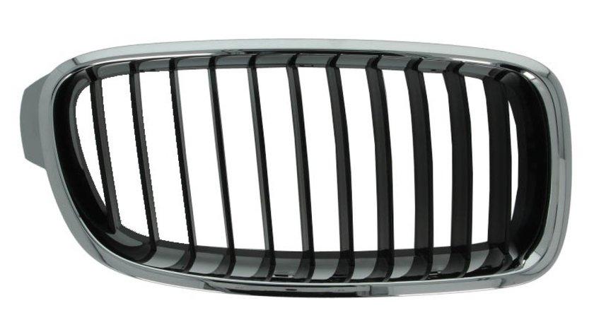 Grila radiator fata dreapta negru/crom BMW Seria 3 F30, F80, 3 F31 dupa 2011