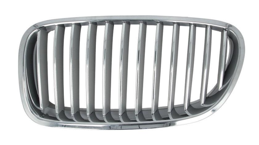 Grila radiator fata stanga crom argintiu BMW Seria 5 F10, 5 F11 dupa 2009