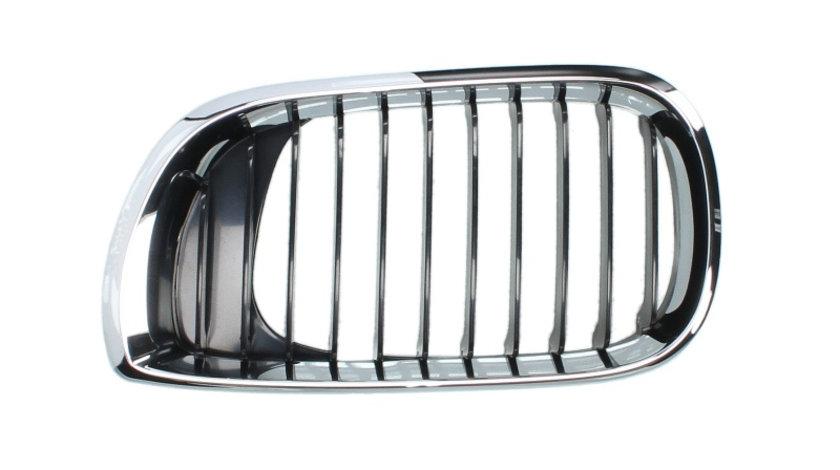 Grila radiator fata stanga limuzina; station wagon, negru crom BMW Seria 3 intre 2001-2006