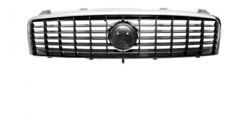 Grila radiator Fiat Linea (323), 06.2007-05.2013, crom/negru, 735439412, 302505 , fara emblema