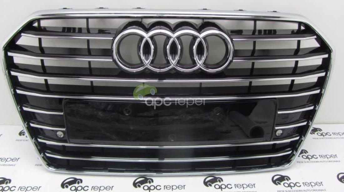 Grila Radiator Grila Centrala Bara fata Audi A6 4G Facelift cod 4G0853651AE t94