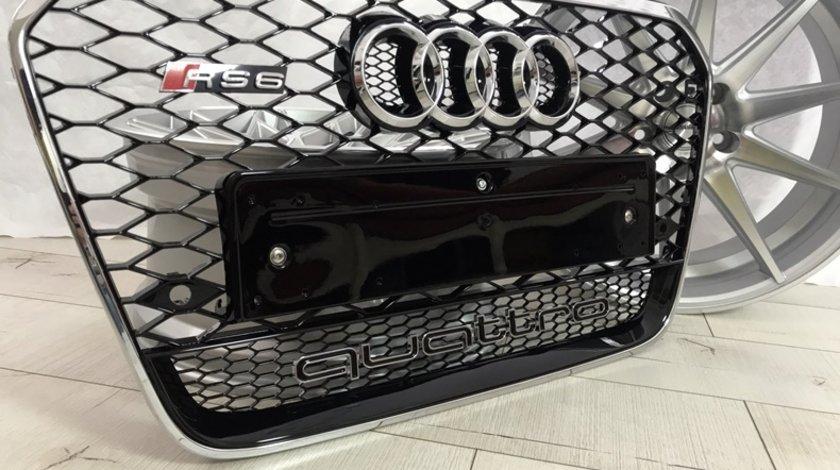 Grila RS6 pentru AUDI A6 4G crom sau neagra