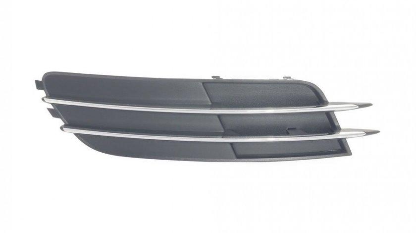 Grila spoiler Audi A6 (C7), 01.2011-06.2014, Stanga, 4G0807681, 13E127-3 fara locas pentru proiectoare,insertie crom