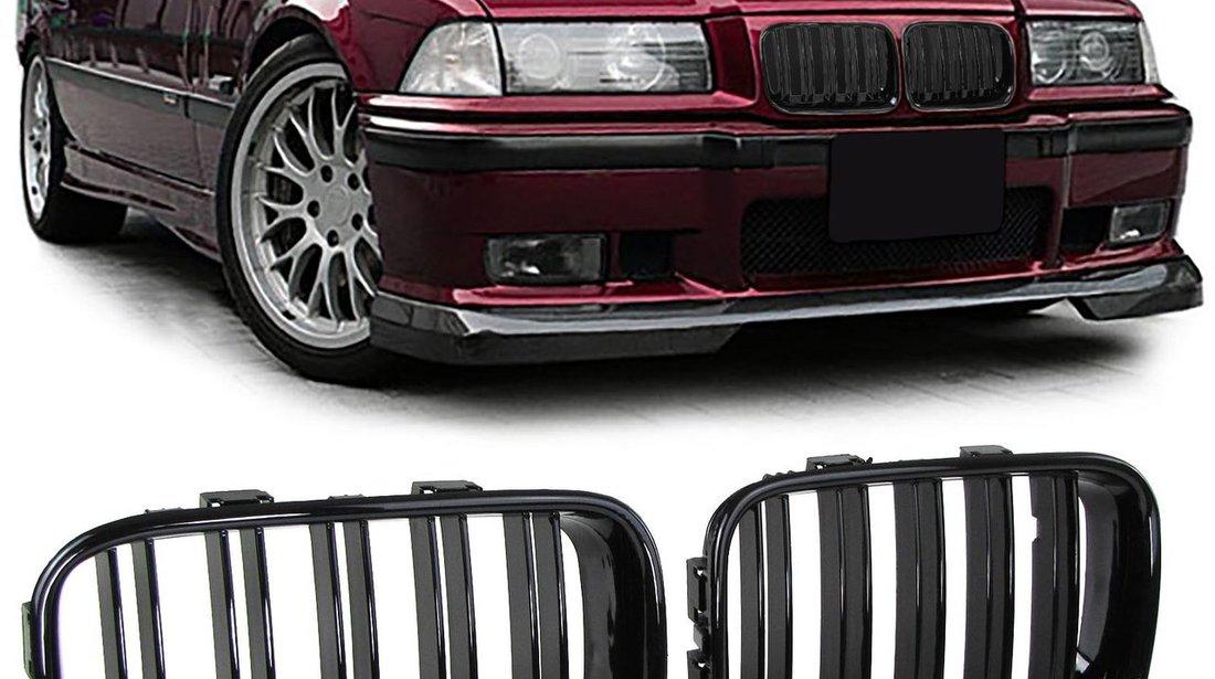 Grila sport BMW E36 1991-1996 Dublu Negru Lucios