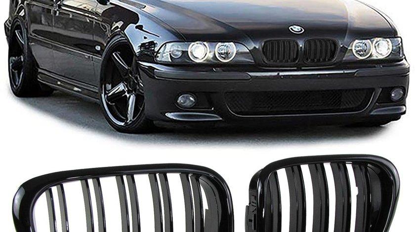 Grila sport BMW E39 1995-2003 Dublu Negru Lucios