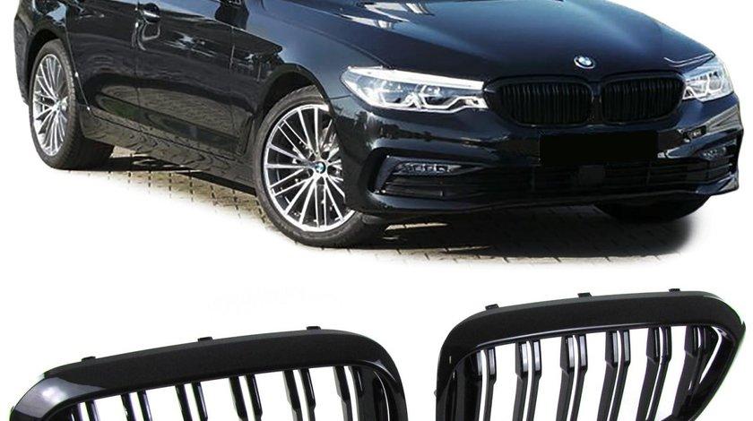 Grila sport  BMW seria 5 G30 / G38 dupa 2016- model Negru Lucios Dublu