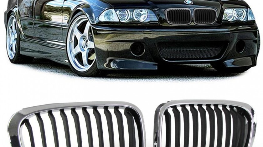 Grile Bmw E46 black/crom edition