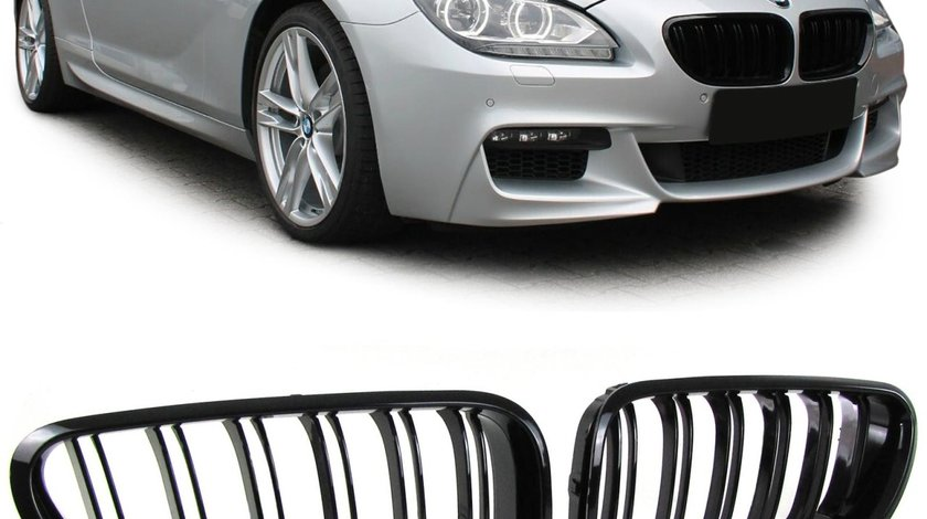 GRILE BMW F12 Cabrio seria 6 M6 Negru Mat