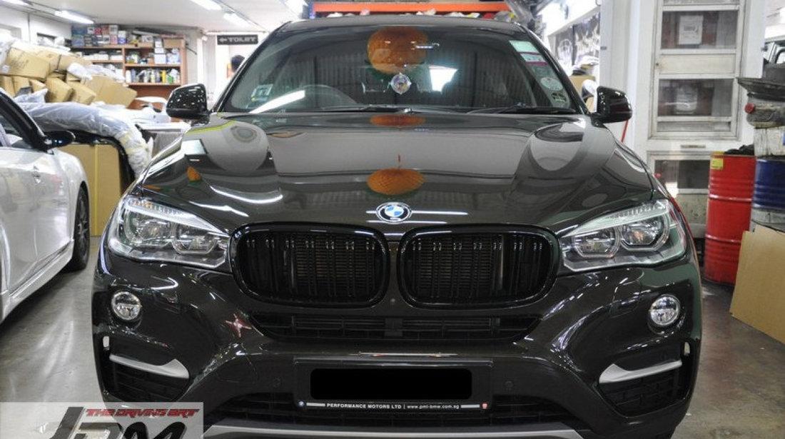 Grile BMW F15 F16 X5 X6 M Look Duble 2014+