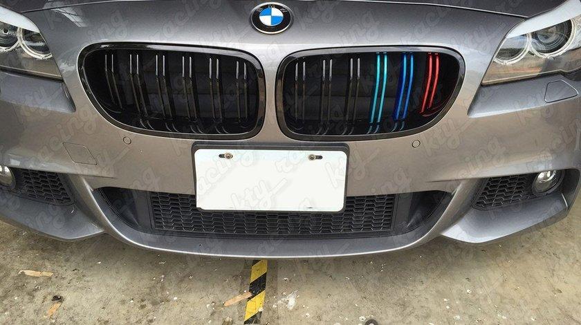 GRILE BMW SERIA 5 F10 NEW M5 M LOOK NEGRU ///M COLOUR