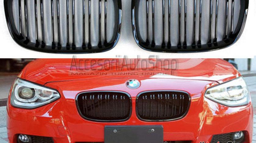 Grile capota BMW Seria 1 F20 F21 2011-2014 Finisaj Negru Lucios DUBLE M1