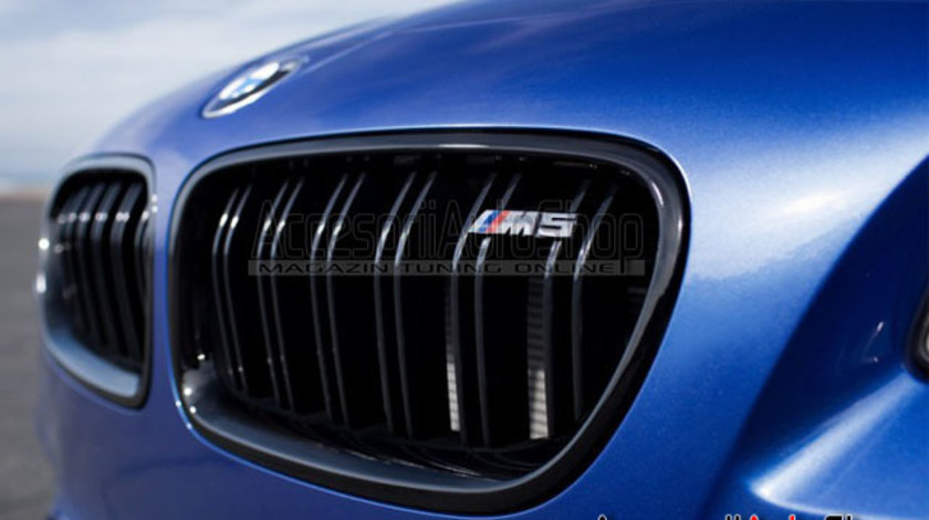Grile centrale BMW F10 F11 M5 Style Negru Lucios