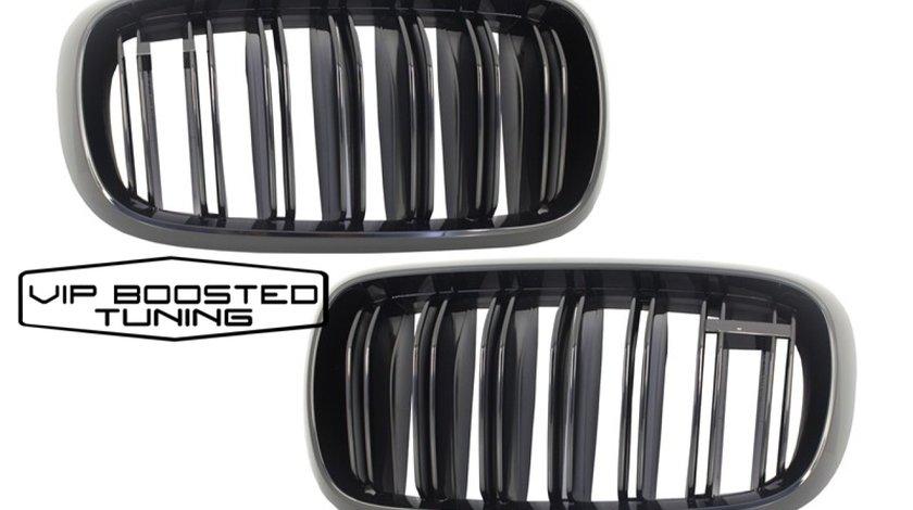 Grile Centrale BMW X5 X6 (F15) (F16) (2014-up) X5M X6M Negru Lucios M Design