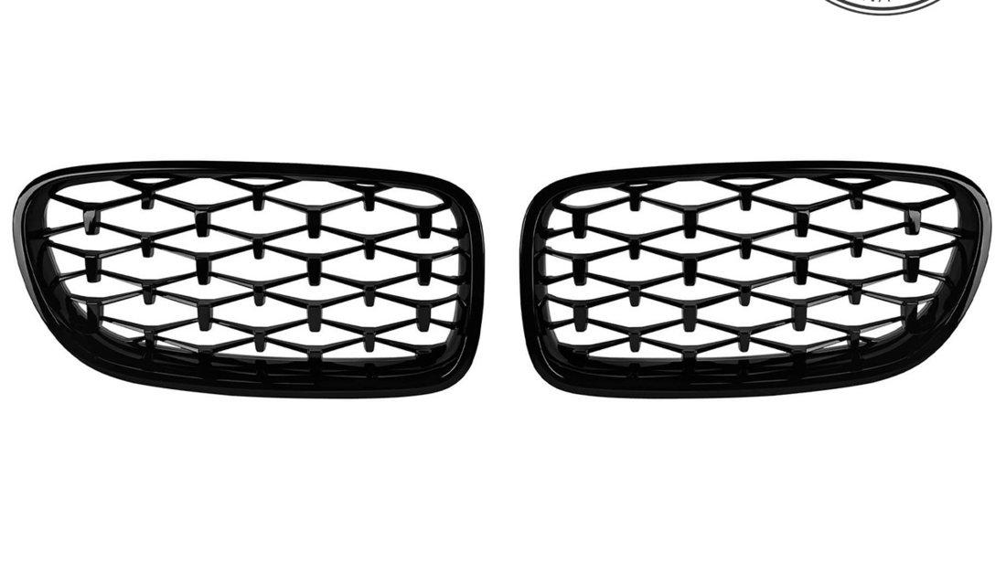 Grile Diamond BMW Seria 5 F10/ F11 (10-17) Negru Lucios
