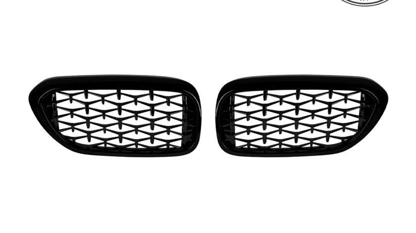Grile Diamond BMW Seria 5 G30/ G31 (17-20) Negru Lucios