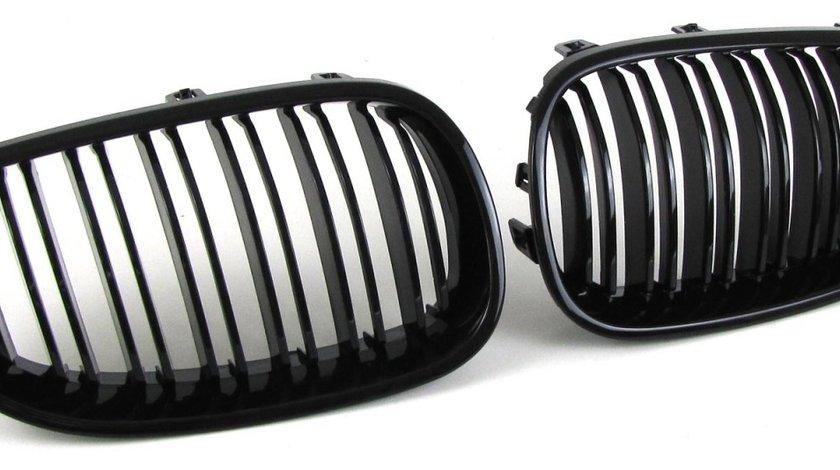 Grile duble Bmw E60 E61 negru lucios grilaj des