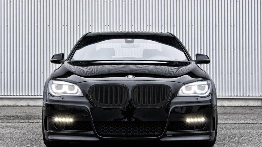 GRILE DUBLE BMW F01 F02 SERIA 7 (2008-2013) PIANO BLACK  *** CALITATE PREMIUM ***