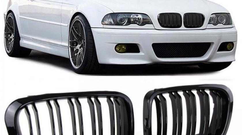 Grile duble BMW seria 3 E46 Limo Touring 1998-2001 Negru Lucios