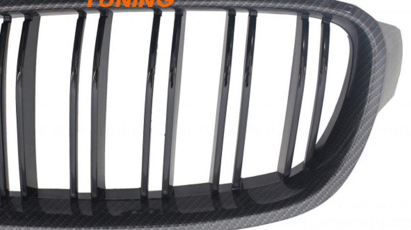 GRILE DUBLE BMW SERIA 3 F30/ F31 (11-18) CARBON DESIGN