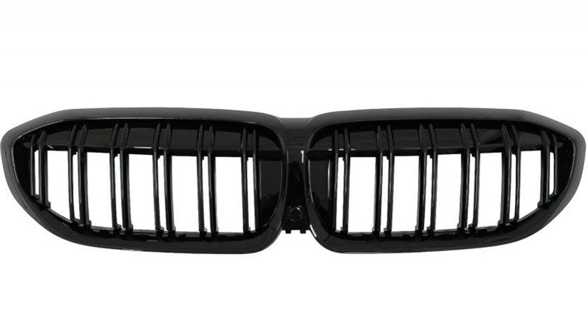 Grile Duble BMW Seria 3 G20 G21 (dupa 2019) Negru Lucios M Design