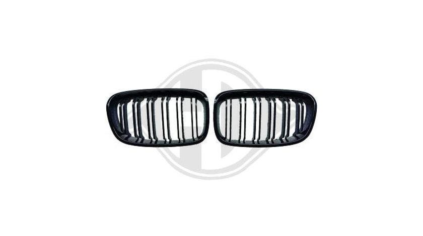 Grile duble M-Look BMW E60/E61 negru lucios