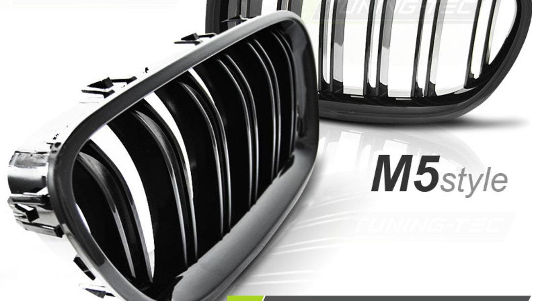 GRILE F10 DUBLE BMW SERIA 5 F10 NEW M5 M LOOK NEGRU LUCIOS  ⭐️⭐️⭐️⭐️⭐️
