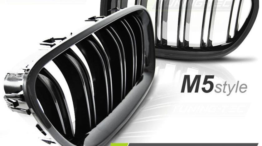 GRILE F10 DUBLE BMW SERIA 5 F10 NEW M5 M LOOK NEGRU LUCIOS