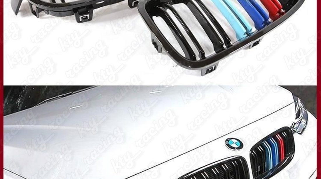 GRILE F30 BMW SERIA 3 F31 NEW M3 M4 M LOOK DUBLE MATE SAU LUCIOASE