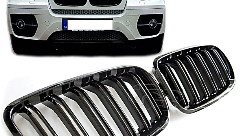 Grile M X5 X6 BMW E70 E71 M Power duble negru lucios