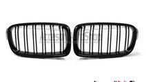 Grile M3 M4 BMW Seria 3 F30 F31 Duble Negru lucios