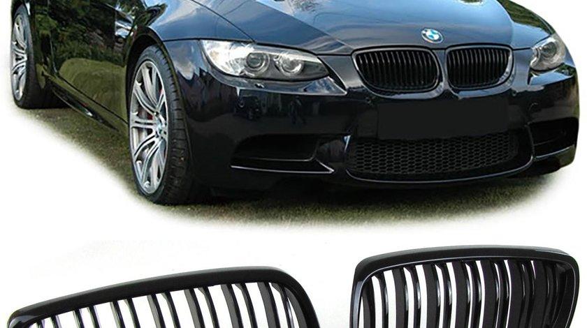 GRILE NEGRE BMW E92 E93 SERIA 3 Coupe Cabrio M3 FACELIFT PRE-FACELIFT SIMPLE DUBLE MATE LUCIOASE MAT