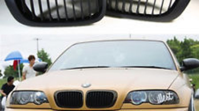 Grile negre BMW Seria 3 E46 COUPE si CABRIO pana in 2003 non facelift