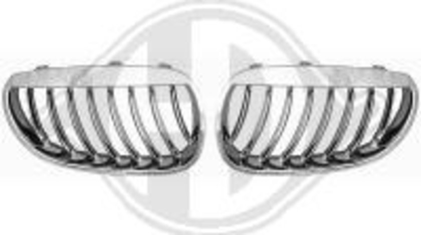 GRILE RADIATOR BMW E60 FUNDAL CROM -COD 1224240