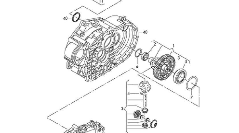 Grup diferential cutie viteza 6 trepte Vw Passat 3C2 (poz.1) VW OE 02Q409021R