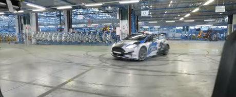 Gymkhana de Romania cu Simone Tempestini si Ford Fiesta RS