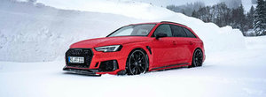 Hai afara la zapada cu un AUDI RS4 tunat de ABT. Cati cai are acum break-ul german de performanta