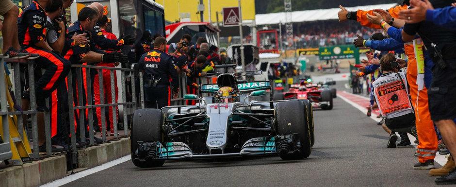 Hamilton castiga in Belgia si isi trece in cont al 200-lea Mare Premiu din cariera