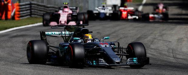 Hamilton ii invinge pe rivalii de la Ferrari la ei acasa si preia conducerea clasamentului general