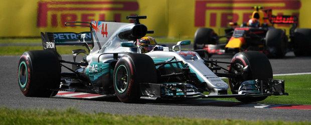 Hamilton mai aproape de un nou titlu mondial. Britanicul a castigat in Japonia iar Vettel a abandonat