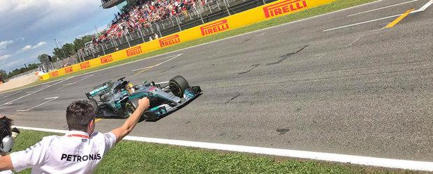 Hamilton rateaza startul dar castiga pana la urma in Spania. Vettel termina pe doi