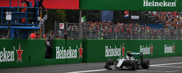 Hamilton rateaza startul iar Rosberg marsaluieste linistit spre victorie la Monza. Lupta pentru titlu ramane deschisa